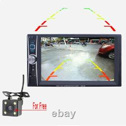 6.6 Bluetooth 2Din Touch Screen GPS Car Stereo MP5 Player AM FM Radio with Camera