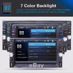 6.6'' Touch Screen Car MP5 Media Player 2 Din Bluetooth Radio Stereo+Rear Camera