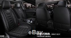 6D Surround Full Set PU Leather Car Seat Cover Cushion Auto Interior Accessories