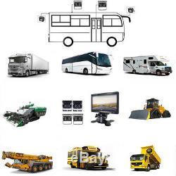 7 DVR Monitor+4CCD Camera Night Vision+DVR Video Recorder Box For Truck Van Bus