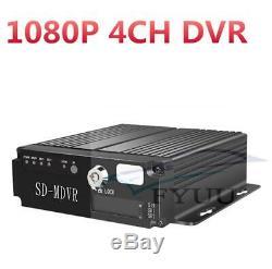 7 HD Car Monitor+ 4Pcs 1080P AHD LED Camera+ 1080P 4CH H. 264 Vehicle DVR Video