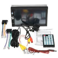 7'' HD Touch 2Din Car MP3 MP5 Player Bluetooth Stereo Radio Head Unit + Camera