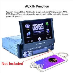 7 Touch Screen Singel Car MP5 Player Radio Stereo GPS Sat Nav 8G Map Card
