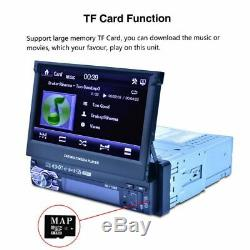 7 Touch Screen Singel Din Car MP5 Player Radio Stereo GPS Sat Nav 8G Map Card
