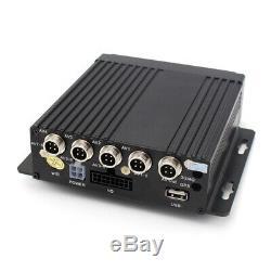720PAHD 4CH H. 264 Car DVR Video Recorder Box With7 HD Car Monitor 4Pc CCD Camera