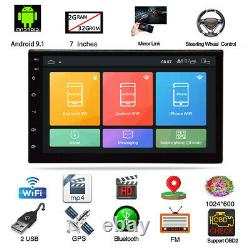 7in 1DIN Car Stereo Radio MP5 Player Android 9.1 GPS Navigation WIFI Mirror Link