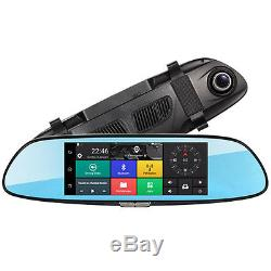 7inch 3G 1080P HD Car SUV Bluetooth WIFI DVR Video Recorder Rearview Camera Kit