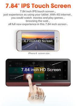 8 4G Dual Lens Car DVR Dash Cam GPS Navigation Android Wifi Bluetooth Recorder