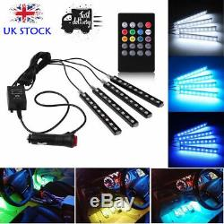 8Color RGB LED Strip Light Music Car Interior MP5 Player Stereo Radio Android