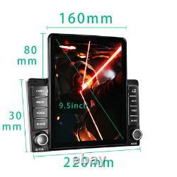 9.5 2Din Car Stereo Radio FM BT Vertical Touch Screen Car MP5 Player+AHD Camera