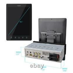 9.5 Single 1DIN Car Radio Stereo Bluetooth FM USB TF AUX MP5 Player With Camera