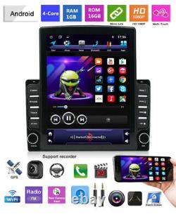 9.7in Car HD Touch GPS Navigation Android 9.1 Quad-core 1+16GB Stereo Radio WiFi