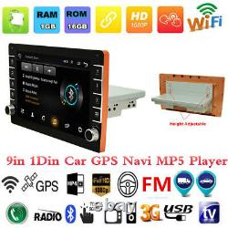 9in 1Din Android 8.1 Car Radio Stereo MP5 Player GPS SAT NAV BT Wifi Mirror Link