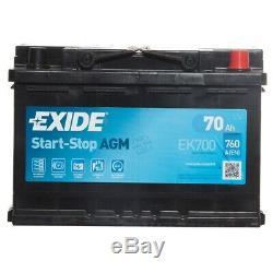 AGM 096 Car Battery 3 Years Warranty 70Ah 760cca 12V Electrical Exide EK700
