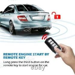 APP One Way Alarm System Engine Start Push Button Key PKE Security Keyless Entry