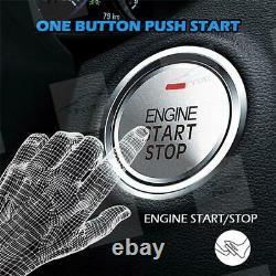 APP Two Way PKE Alarm System Engine Start Push Button Key Security Keyless Entry