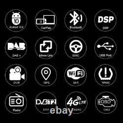 Android 10 Head Unit DAB Radio GPS Sat Navi for Nissan Navara Note X-Trail Sunny