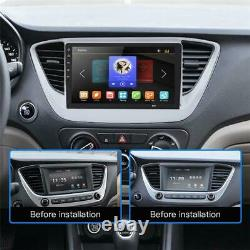 Android 8.1 4-core 8 1DIN BT Car Stereo Radio GPS Navigation WithRearview Camera