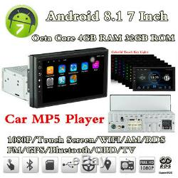 Android 8.1 7 1 Din 4+32G Head Unit Car BT Stereo Radio MP5 Player GPS Navs