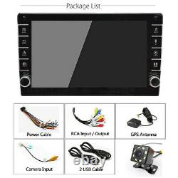 Android 8.1 9in 1Din Bluetooth GPS WIFI Car FM Radio Stereo MP5 Player +Rear Cam