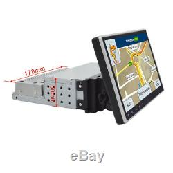 Android 9.1 10 1Din Touch Screen GPS Navigator BT Car Stereo Radio MP5 Player