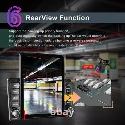 Android 9.1 Apple Carplay 2Din 9.5'' Car Stereo Radio GPS Sat Nav WIFI BT + Cam