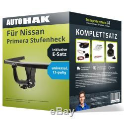 Anhängerkupplung starr für NISSAN Primera Stufenheck +E-Satz AHK