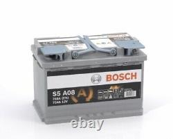 BOSCH 096 S5 A08 AGM CAR BATTERY 12V 70Ah UK TYPE 096 AGM S5A08