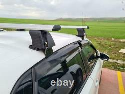 Bare Roof Rack Cross Bars Set for Nissan Primera (P11) Sedan 1996 2002