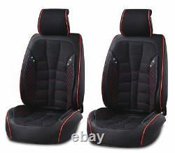 Black PU Leather & Fabric Full set Seat Covers For Nissan Navara Qashqai Juke