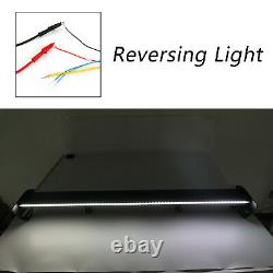 Black Universal Hatch Aluminum Rear Trunk Wing Racing Spoiler With LED Light B2