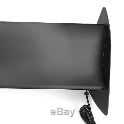 Black Universal Hatch Aluminum Rear Trunk Wing Racing Spoiler With LED Light T3