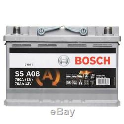 Bosch S5A08 AGM 096 Car Battery 3 Years Warranty 70Ah 760cca 12V Electrical