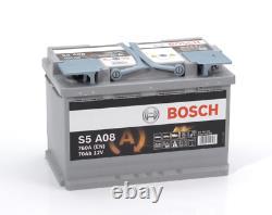 Bosch S5A08 S5 A08 Start Stop AGM Car Battery 12V 70Ah Type 096 5 YEAR WARRANTY