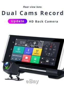 Car Centre Consoles DVR 7 Android FHD 4G WIFI ADAS Driving Recorder Dual Lens