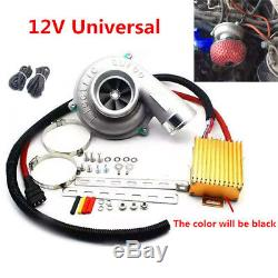 Car Electric Turbocharger Supercharger Kit Thrust Fuel Saver Air Filter Intake