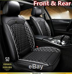 Car Seat Covers For Auto Suv Truck Front Rear Black White Pu