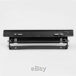 Carbon Fiber Coated Adjustable Car License Number Plate Frame Bracket Holder Kit