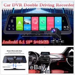 Central Console 10 HD Dash Cam 140° Wifi 4G GPS Car DVR Double Driving Recorder