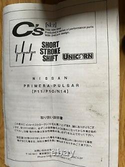 Cs Short Shifter Nissan Pulsar GTI-R Primera RNN14 Nismo Rare P10 P11 SR20 JDM