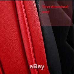 Deluxe Edition 5D Full Surround PU Leather Car Seat Cover Cushions Pillows Sets
