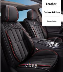 Deluxe Edition Car Seat Covers Full Set Seat Cushion PU Leather For Four Seasons