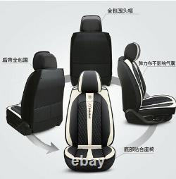 Deluxe Edition Full Set Seat Covers PU Leather Seat Cushion Fit For 5-Seats Car