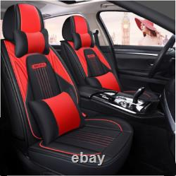 Deluxe Edition Leather 5D Car Seat Cover Seat Cushion Universal 5-Seats Full Set