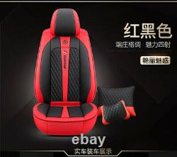 Deluxe Edition Leather Full Surrounded Car Seat Cover Cushion Protectors+Pillows