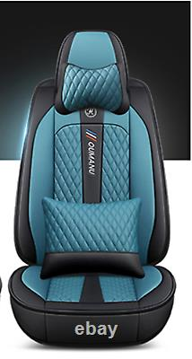 Deluxe Edition Seat Cushion PU Leather Car Front Rear Seat Covers For 4 Seasons