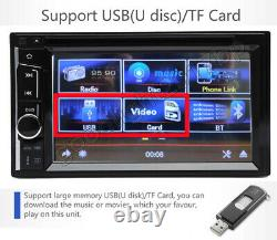 Digital Double DIN Car Stereo Radio CD DVD Player Bluetooth MP3 6.2 for AUDI A3