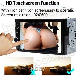 Double 2DIN Head Unit Car Stereo CD Player Touch Screen Mirror Link for GPS+Cam