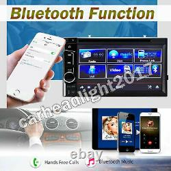 Double DIN 6.2 Car Stereo Mirror Link For Android iOS Nav GPS DVD Player Radio