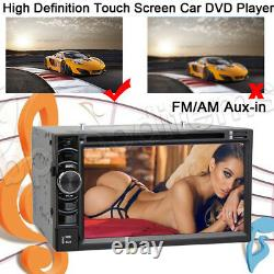Double DIN 6.2 Touch Screen Car DVD Player Mirrorlink for GPS Stereo Radio+Cam